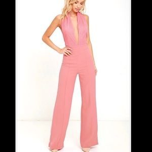 Lulu's Rose Pink Jumpsuit ! Sexy small